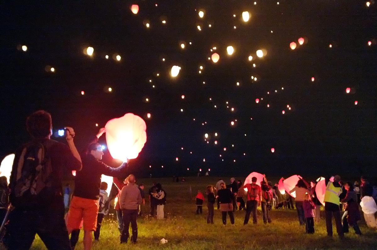 lanternes volantes ronde des sangliers
