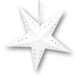 étoile carton blanc