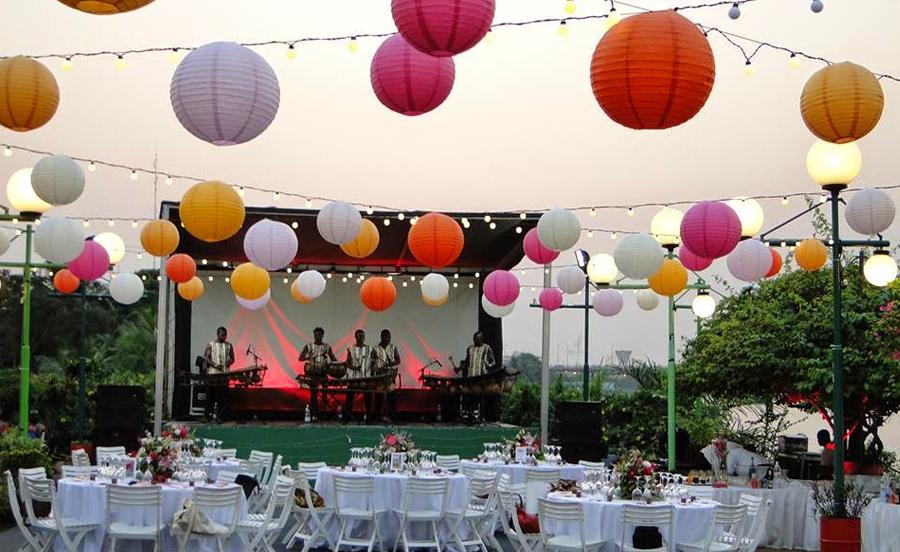 décoration mariage boule papier multicolore