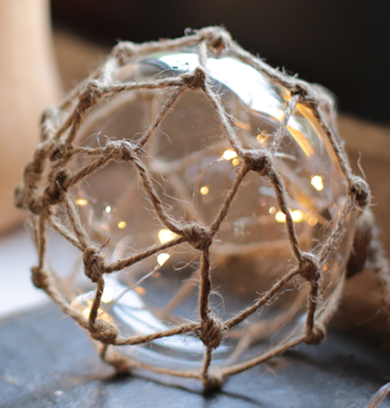 boule de chalut lumineuse - décoration lumineuse