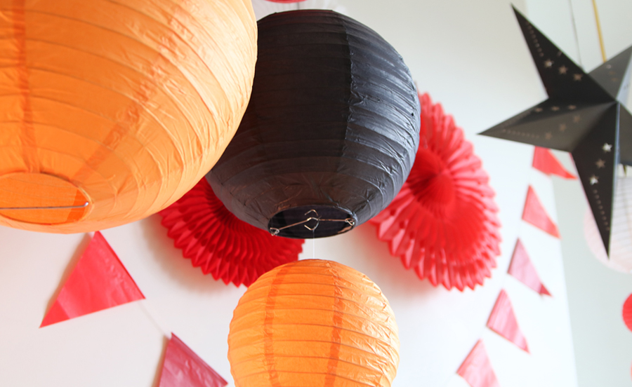 boule japonaise orange noir tendance décoration hiver 2016