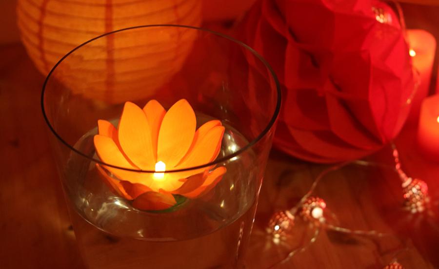 nymphea fleur flottante LED