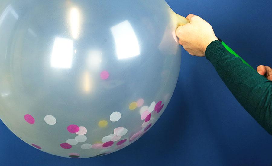 confettis - ballon gonflé