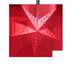 étoile en carton rouge