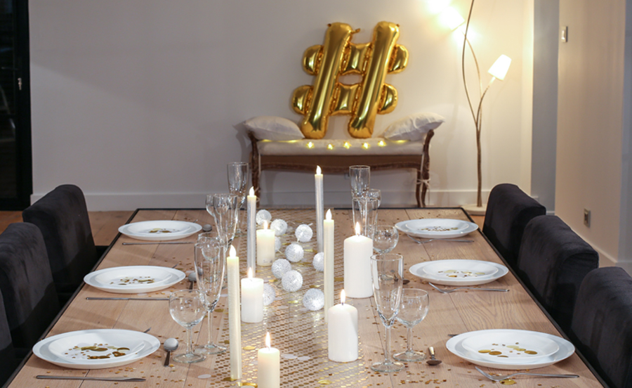 ballon hashtag or table fête