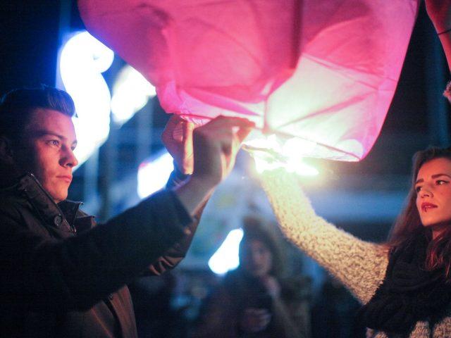 lanterne fuchsia