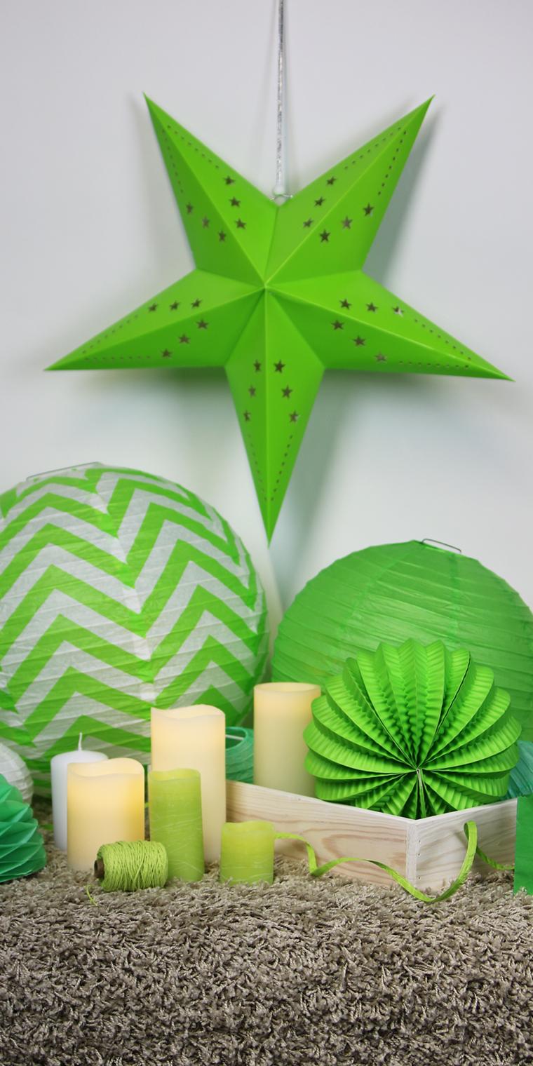 Décoration thème vert