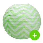 boule papier chevron vert