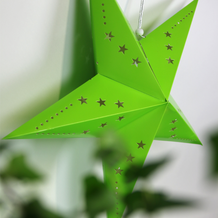 étoile carton vert