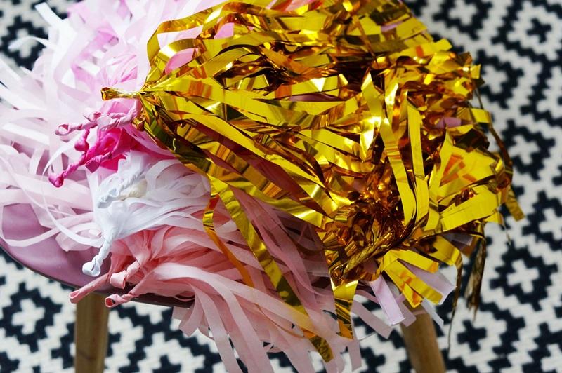 Guirlande Tassel rose décoration