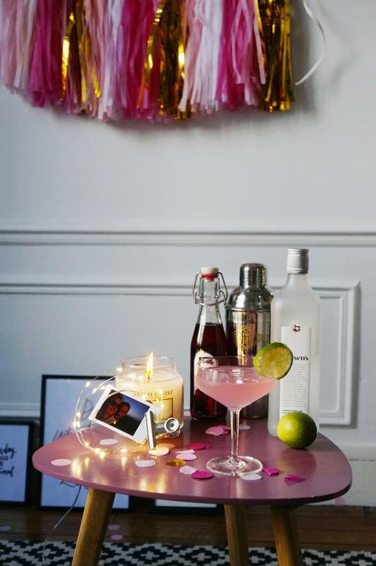 Cocktail saint valentin rose soyons Futiles