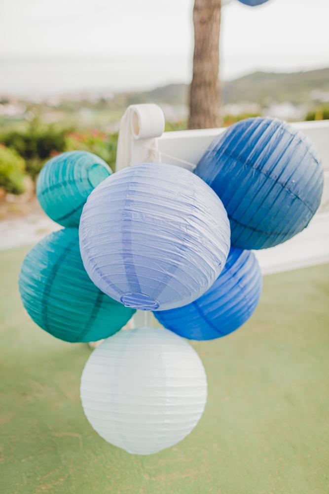 mariage decoration degradé bleu