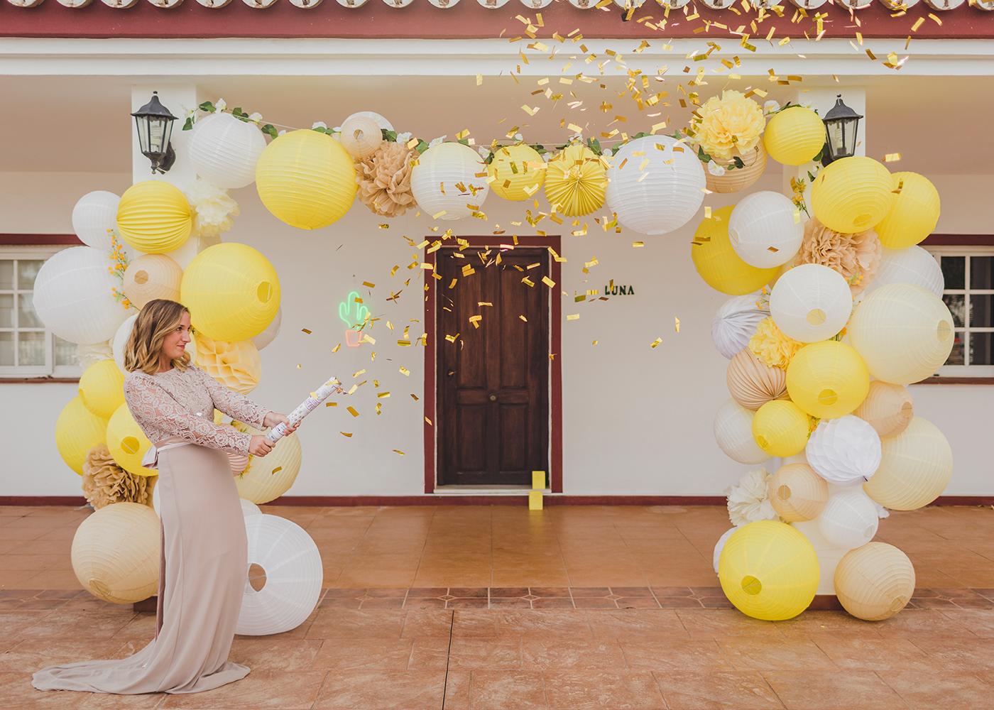 canon confettis mariage or