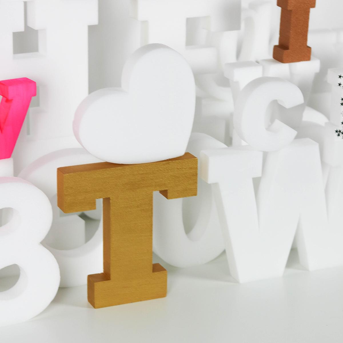 lettres en plastique decoration customiser personnaliser
