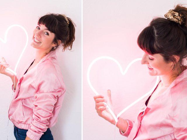 une fille derable blog deco neon
