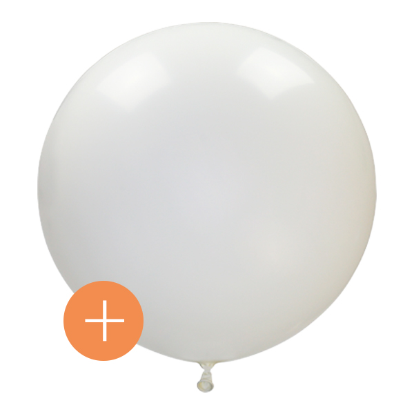 ballon blanc geant latex