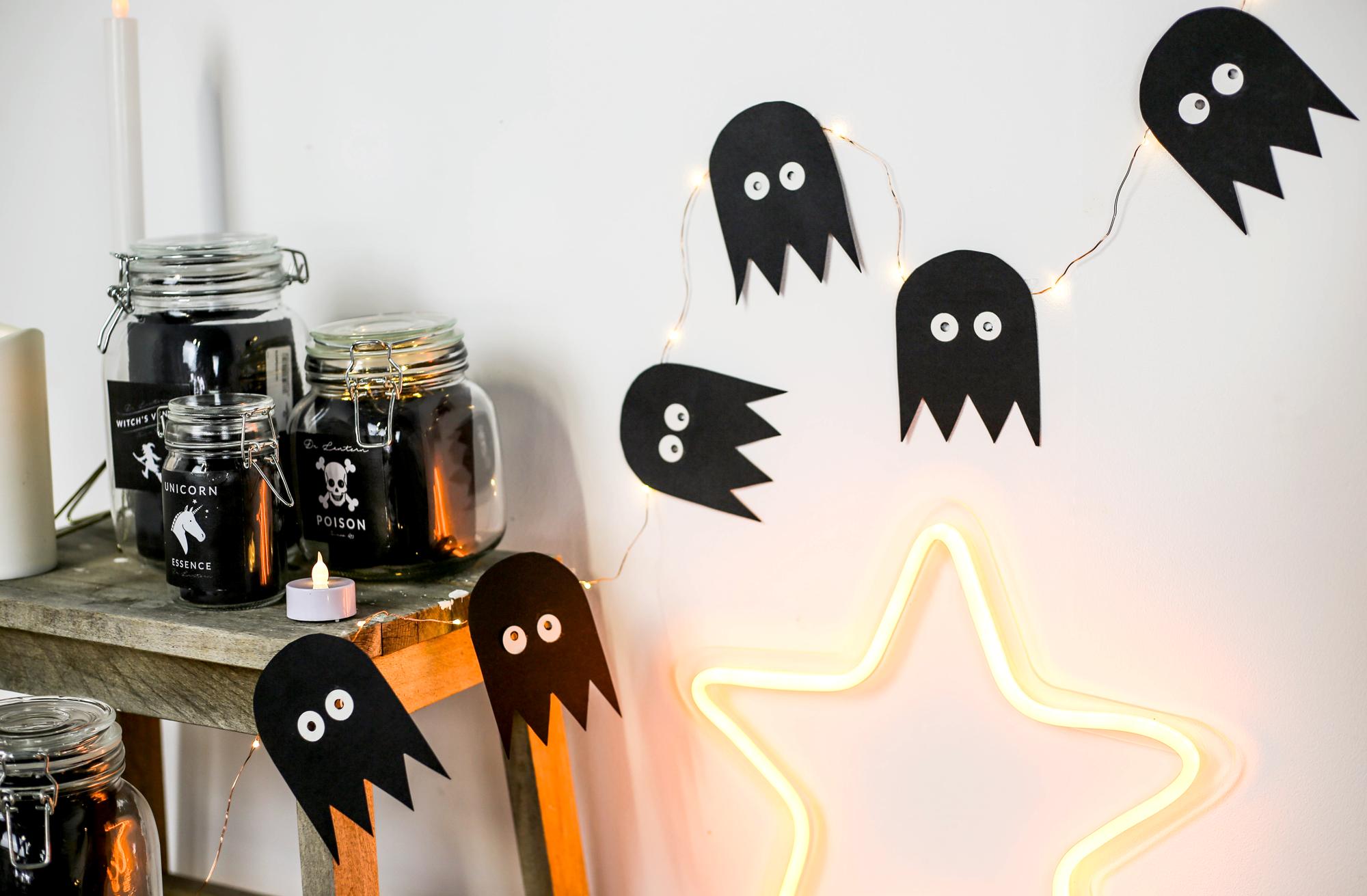 guirlande diy halloween pac-man microled fantome
