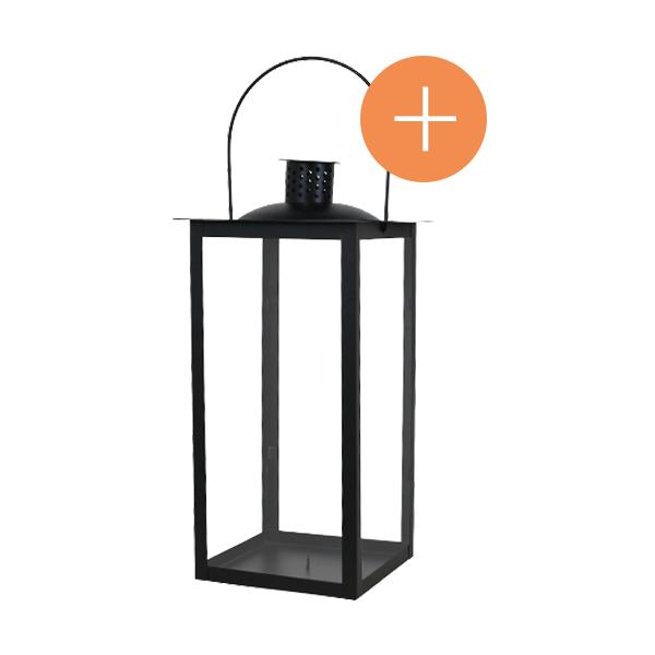lanterne métal noir 40cm