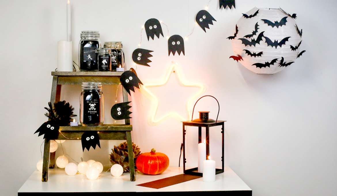 deco table halloween simple. Black Bedroom Furniture Sets. Home Design Ideas