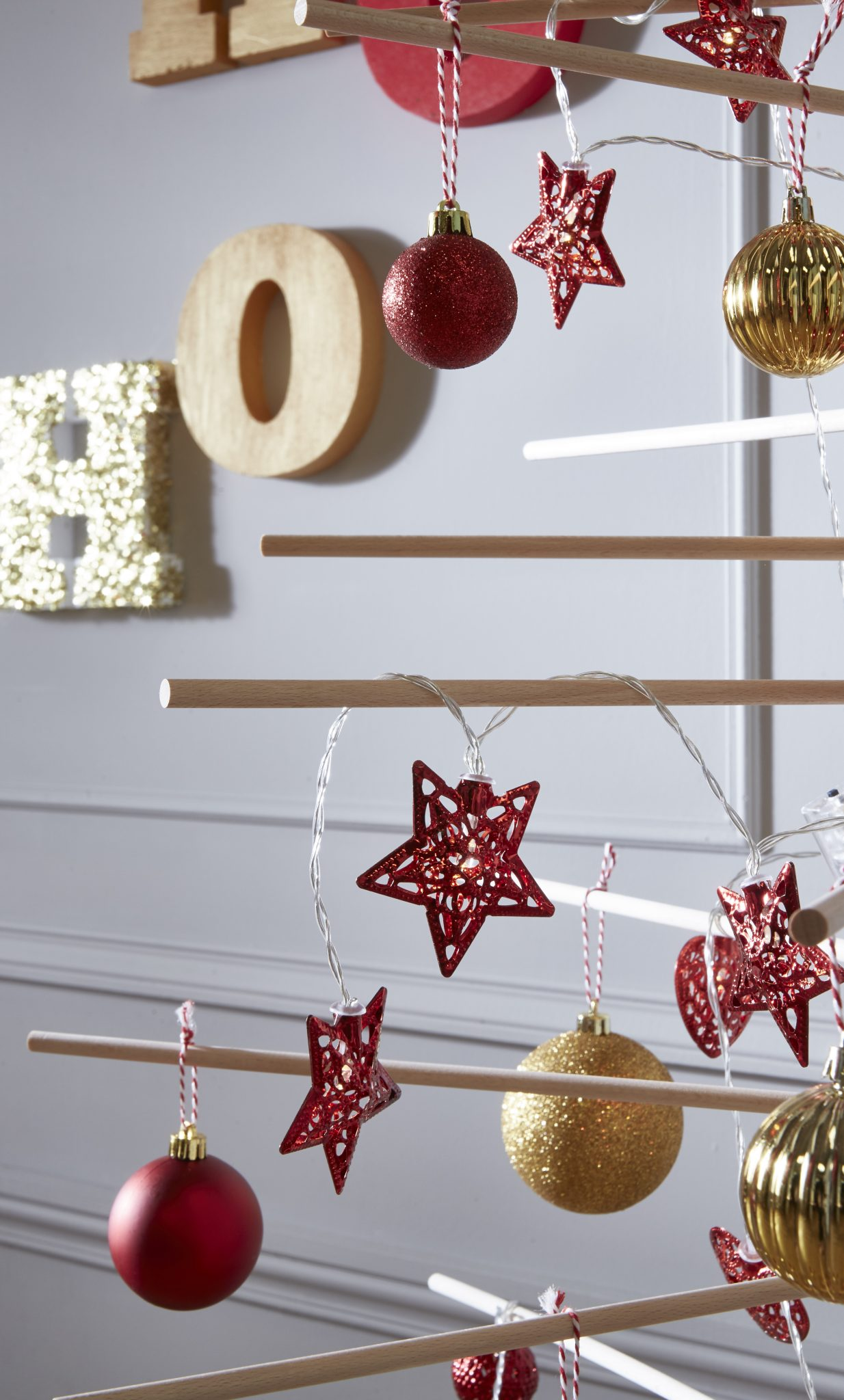 noel decoration rouge or fêtes