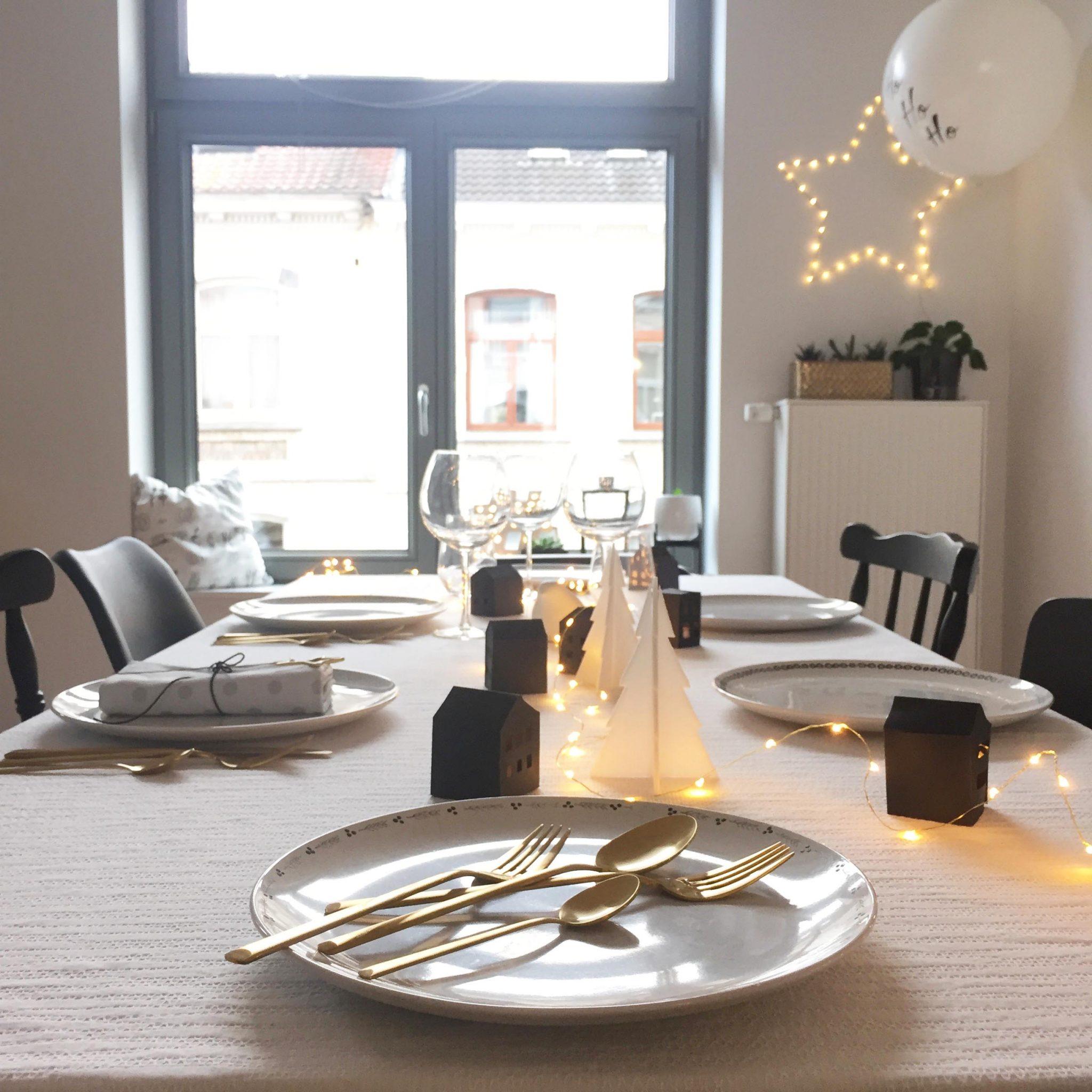 décoration table fêtes Noel