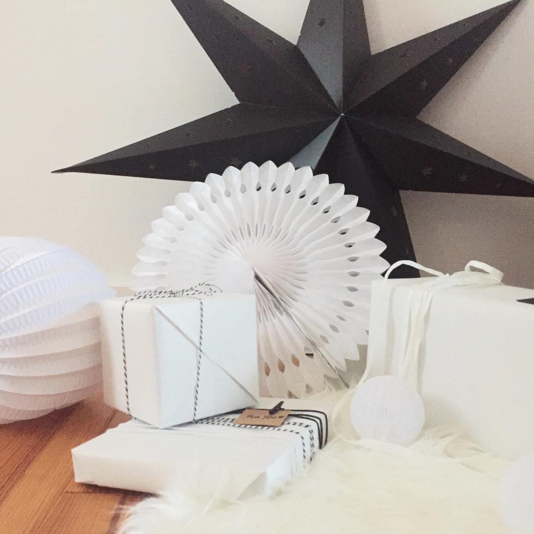 decoration de noel pierre papier ciseaux 2017 tendance black white noir blanc