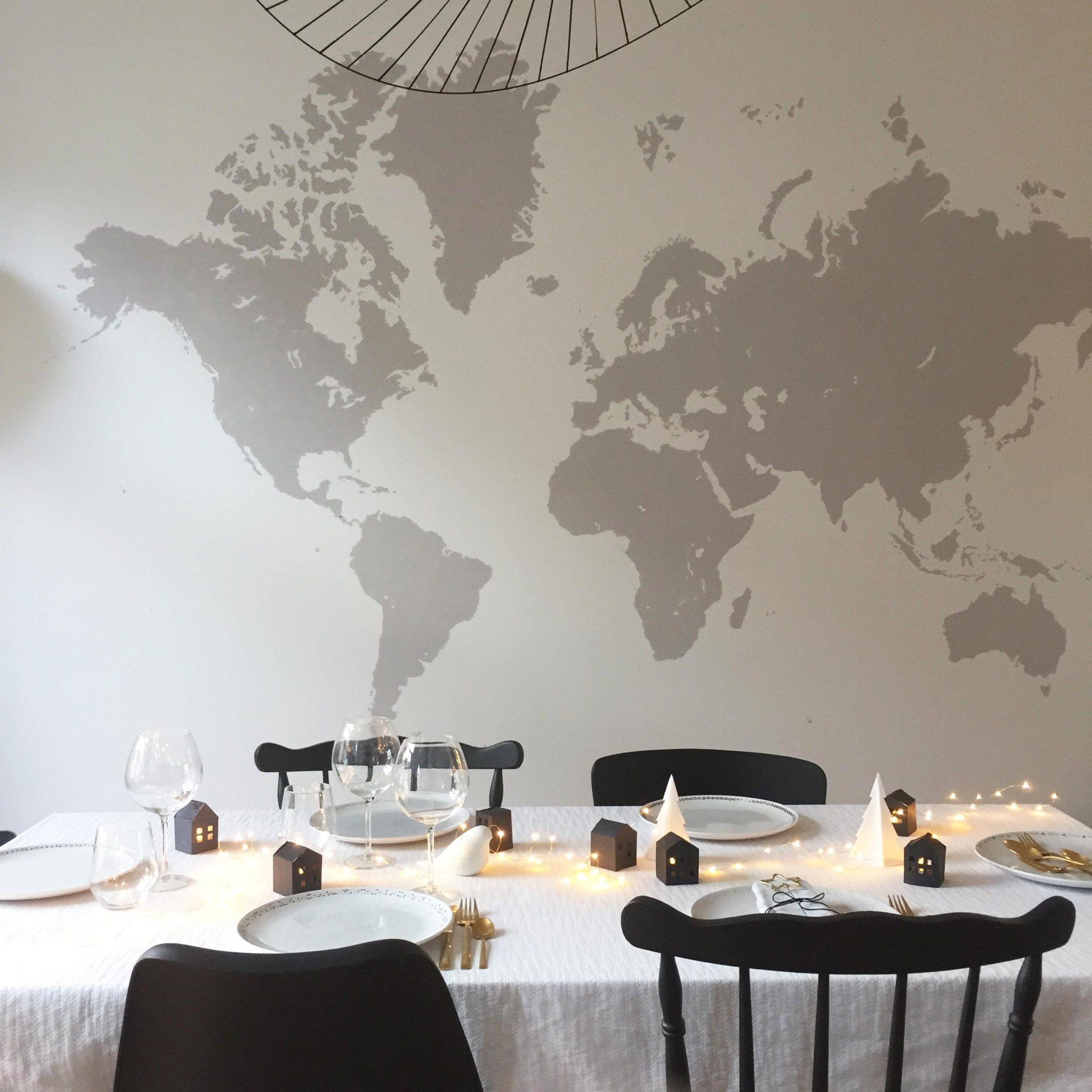 d coration table f tes noel blanc noir skylantern le. Black Bedroom Furniture Sets. Home Design Ideas