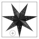 étoile décoration noir 70cm carton