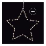 étoile lumineuse led 49 cm blanc déco Noel 2017