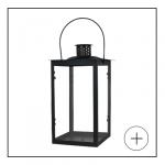 Lanterne metal noir 30cm