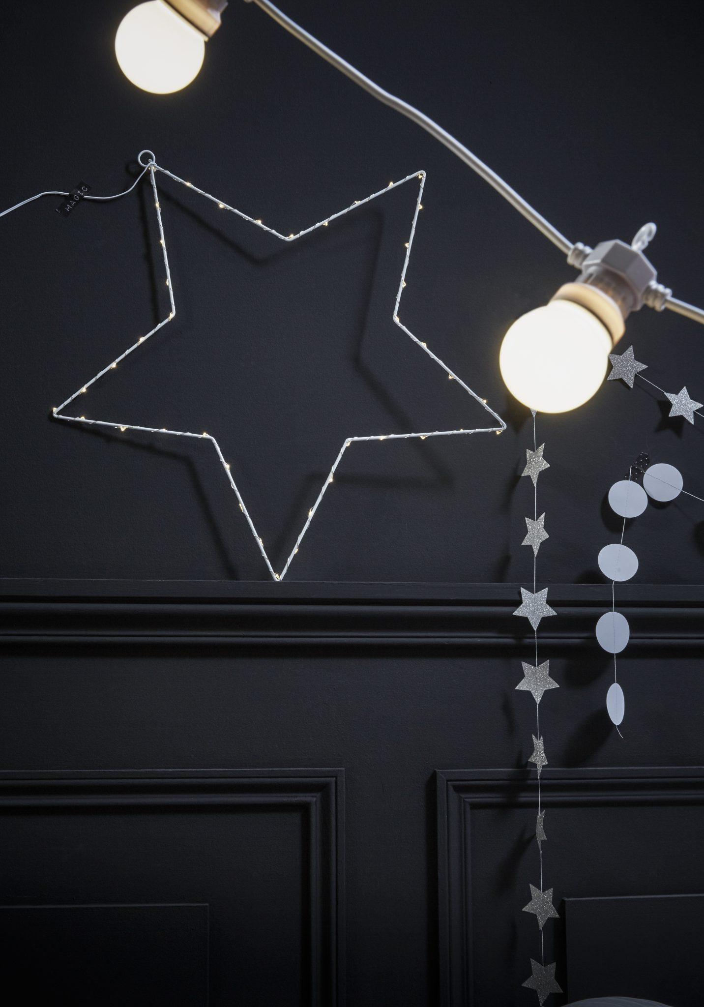étoile lumineuse bonne année noir et blanc nouvel an saint sylvestre 31 décembre
