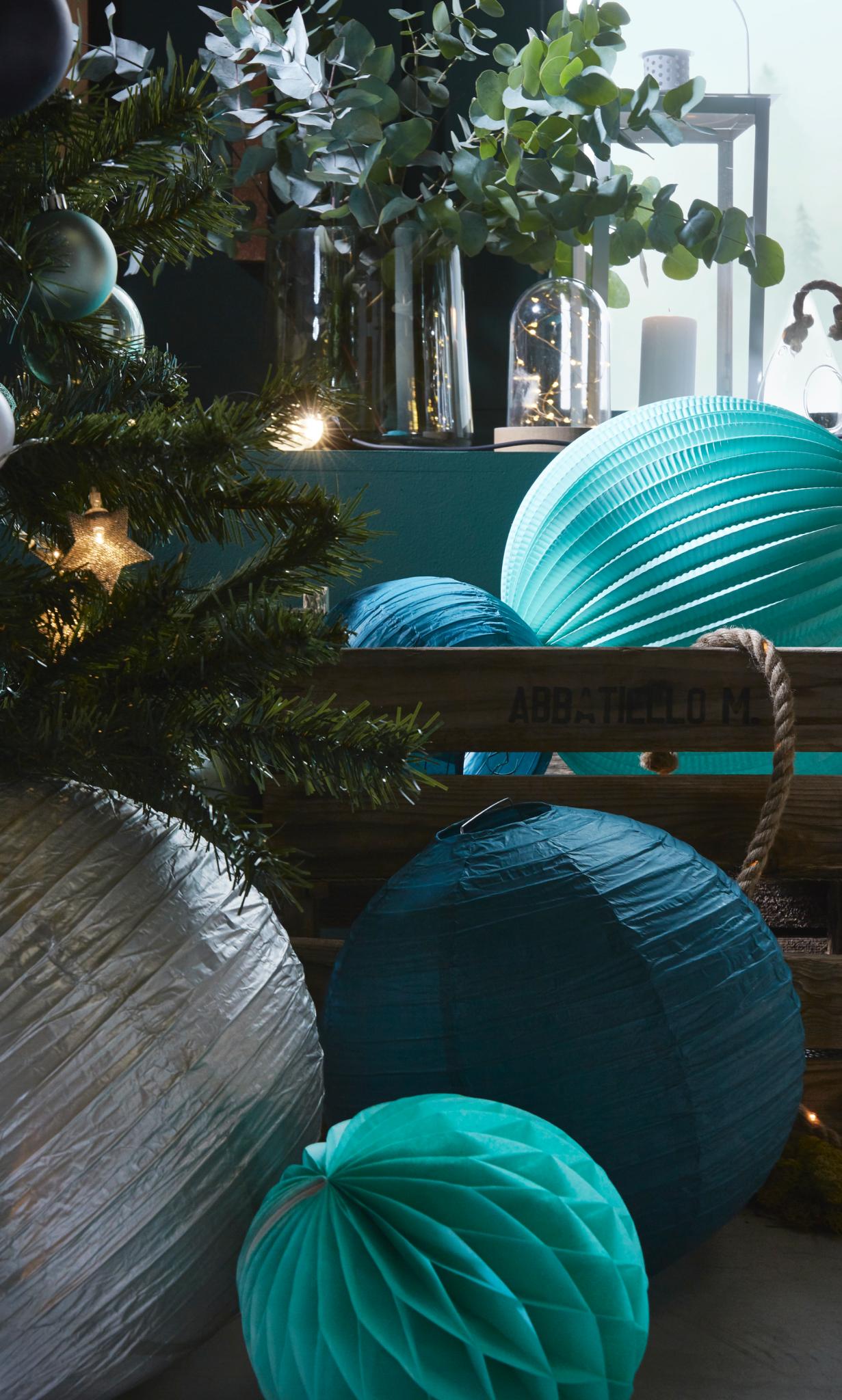 décoration noel tallinn skylantern bleu vert tendance 2017 2018