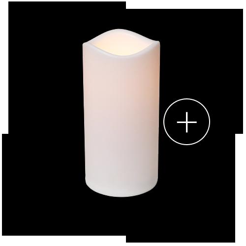 bougie led blanc design pas cher plastique