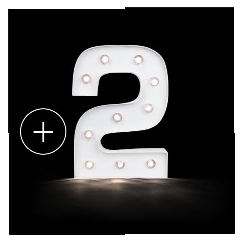 lettre lumineuse chiffre 2