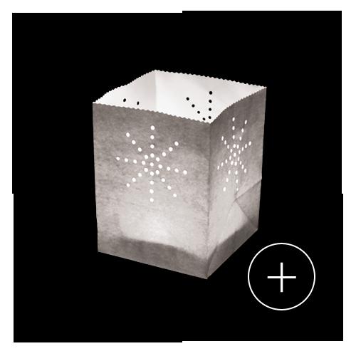 photophore papier argent sac lumineux lanterne de table