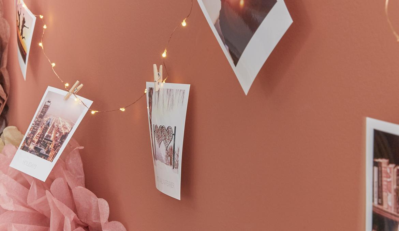 diy guirlande lumineuse photo led pinces