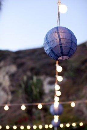 guirlande guinguette lanterne lampion mariage 2018 2019 bleu marine navy