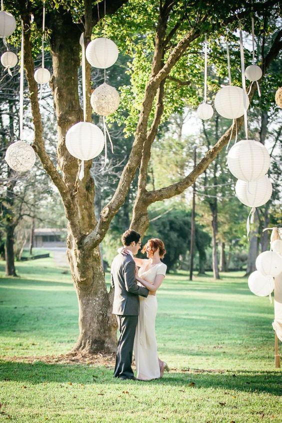mariage champêtre tendances décoration 2018 boules japonaises