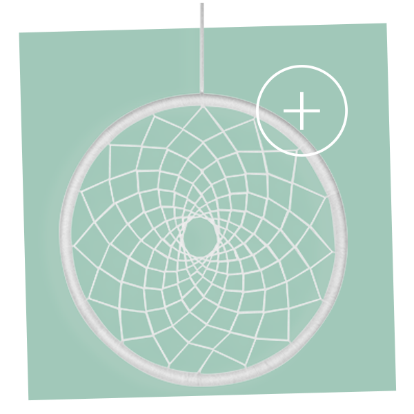 attrape-rêve arceau à composer customiser personnaliser 40cm blanc