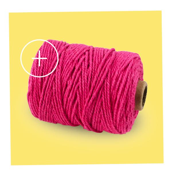 ficelle fil coton rose fuchsia