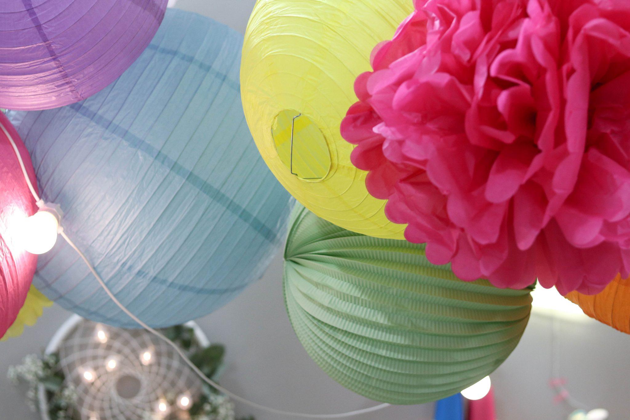 déco goûter fête anniversaire enfant multicolore