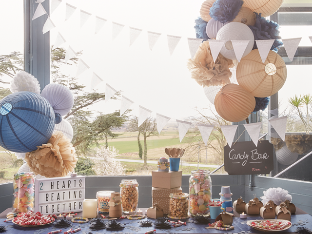 candy bar mariage décorartion bleu navy wedding decor