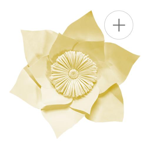 acheter fleur papier jaune deco mariage tendances 2019