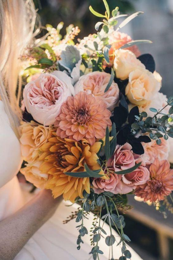bouquet mariée mariage 2019 tendance couleurs