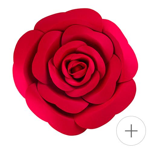 fleur papier geante murale rouge tendance 2019