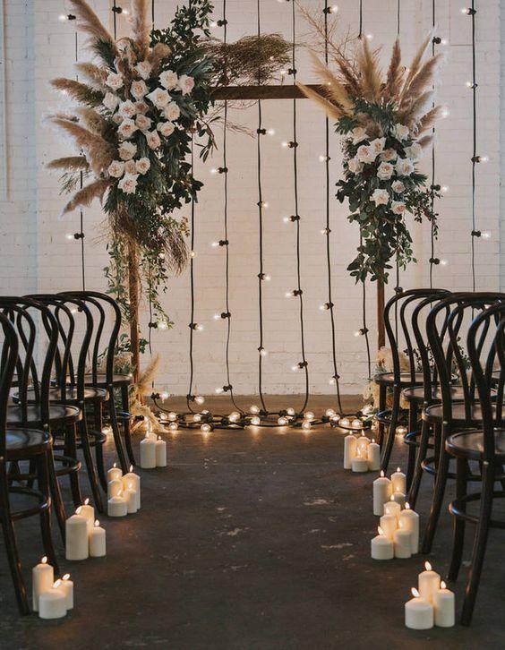 guirlande guinguette ceremonie mariage tendance decoration 2019