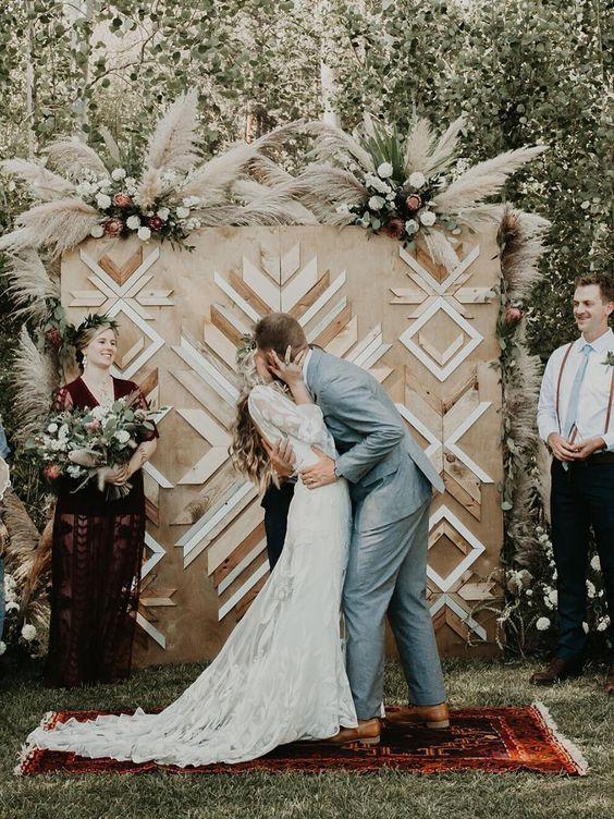 idee decoration mariage tendance 2019 mariage photocall champêtre