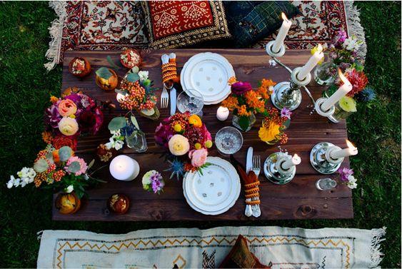 mariage folk decoration tendances 2019 gipsy couleurs multicolore