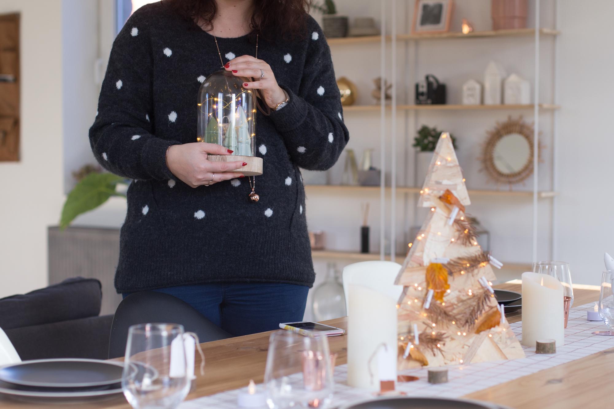 mint & paper deco blog cloche en verre décoration de noel table guirlande lumineuse