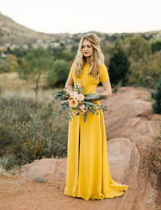 moutarde jaune mariage tendance couleurs 2019 mariée